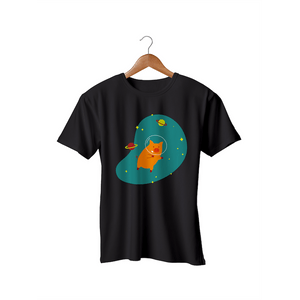 Camiseta Feminina - InterPig das Galáxias - Preta