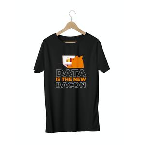 Camiseta Masculina - Data is the New Bacon - Preta