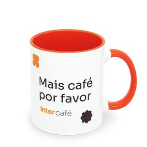 """Caneca """"Mais café por favor"""""""