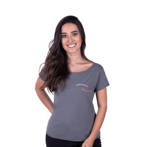 Tshirt Feminina Verão Liberdade Cinza