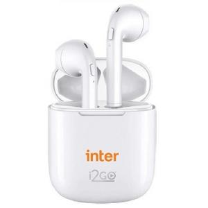 Fone de Ouvido Bluetooth Sem Fio TWS Air Sound Go 2 Com Estojo de Carregamento - Inter I2GO