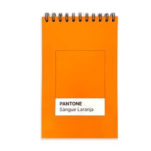 Caderneta Pantone #Sanguelaranja