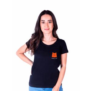 Camiseta Feminina InterPig Simplifique - Preta