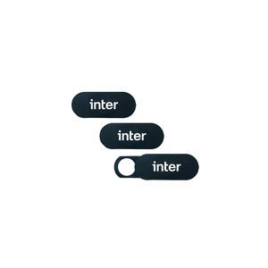 Kit 3 Unidades Webcam Cover Inter - Capa de Segurança