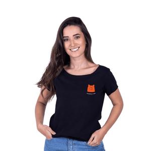 Tshirt Feminina InterPig - Preta